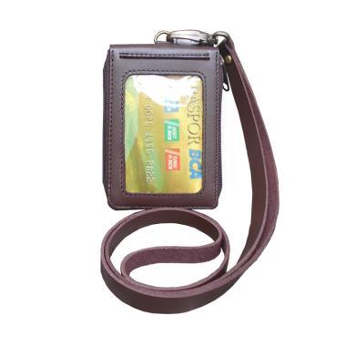 Leather Castle Id Card Holder Fungsi Dompet Kartu