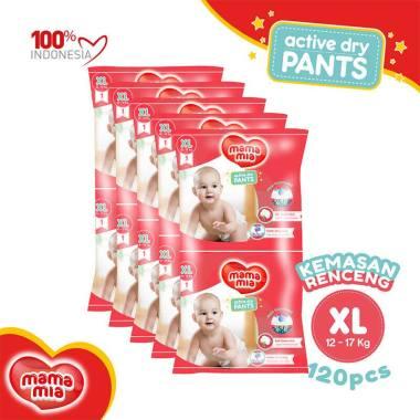 Mamamia Baby Diapers Pants XL1 Popok Bayi [Kemasan Renceng/ 120 pcs]