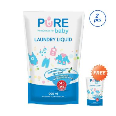 Pure Baby Laundry Liquid [900 mL/ Refill/ Buy 2 Get 3]