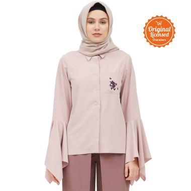 Disney x Suqma Annete Blouse Muslim Wanita - Dusty Pink