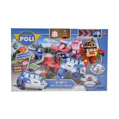 Silverlit 83376 Robocar Poli 3 in 1 Mini Pocket Playset Mainan Anak