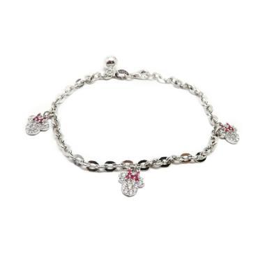 Beauty Culture Bcgt005 Nori Minnie Perak Silver 925 Lapis Emas Perhiasaan Gelang Original