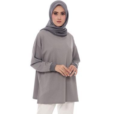 FS - Dauky S Ordelia Tunic Muslim Wanita - Abu-Abu