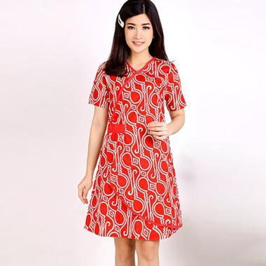 Evercloth Oscar Terusan Batik Dress Wanita