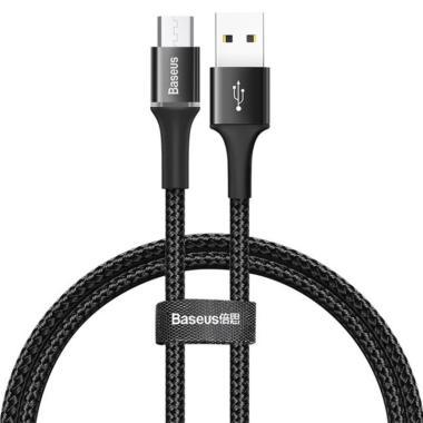 Baseus Kevlar Micro USB Kabel Data - Black [1 m/ 3A/ Fast Charger]