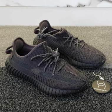 harga adidas Yeezy Boost Sepatu Olahraga Pria - Triple Black [350 V2] Blibli.com