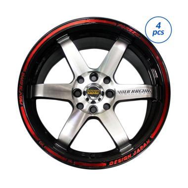 Volk Racing Te 37 Ultra Ring 16x85 Pcd 100 1143 Black Polish Lips Red Velg Mobil