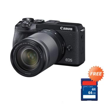 harga Pre Order - Canon EOS M6 Mark II Mirrorless Digital Camera with 18-150mm Lens + Free Memory SDHC 64 GB Blibli.com