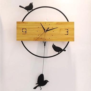 Jual Creative Tree Shaped Wooden Wall Clock Quartz Clock House Living Room Decor Online Desember 2020 Blibli