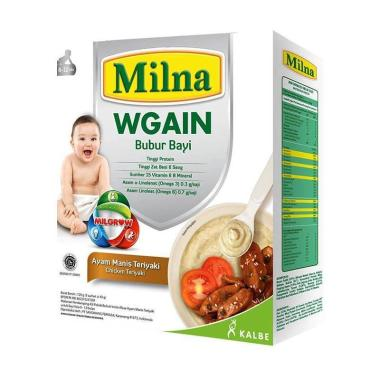 harga WHS - Blibox 77 - Milna Wgain Ayam Manis Teriyaki Bubur Bayi [8-12 Bulan/ 120 g] Blibli.com