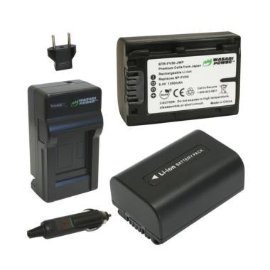 harga Wasabi Power W39 Battery & Charger for Sony NP-FV30/NP-FV40/NP-FV50 [2-Pack] Blibli.com