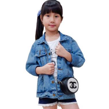 harga Jfashion Shens Girl Jaket Jeans Anak L Navy Blue Blibli.com