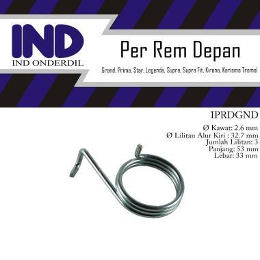 harga IND Onderdil Peer Rem Depan for Grand - Prima - Legenda - Supra - Supra Fit Lama - Kirana - Karisma Tromol SILVER Blibli.com
