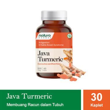 Natura Herbal Java Turmeric Obat Herbal [30 Kaplet]