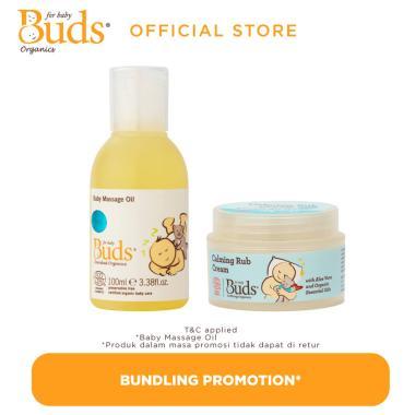 harga Buds Calming Tummy Rub Cream [30 mL] & Baby Massage Oil [100 mL/ Set Bundle] Blibli.com
