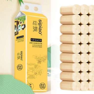 harga Bluelans 14Pcs 4 Layers Natural Bamboo Pulp Skin Friendly Bathroom Toilet Paper Tissue Blibli.com