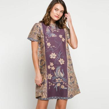 Andelly Batik 02 15 Dress Panjang Wanita - Purple