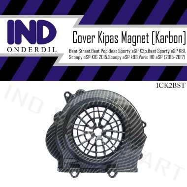 harga IND Onderdil Cover Tameng Kipas Magnet Mesin Karbon Motor for Honda Beat  Hitam Blibli.com