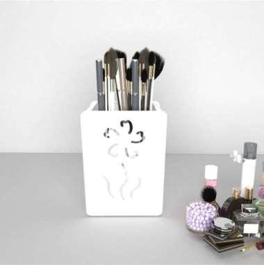 harga A645 Keranjang Kuas Make Up - Putih Blibli.com