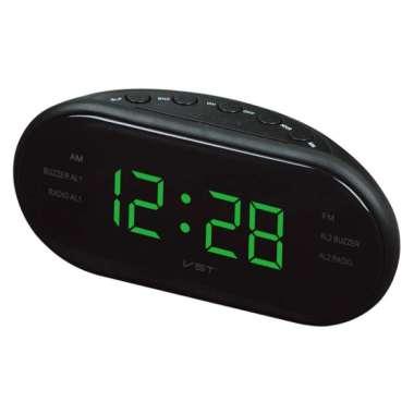 harga Digital LED AM/FM Clock Radio Buzzer Time Alarm Clock Table Snooze Clock Green Blibli.com