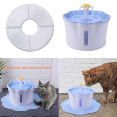 harga Automatic Filtered Water Fountain Dispenser For Pet Cat Puppy Drinking Blue - Blibli.com