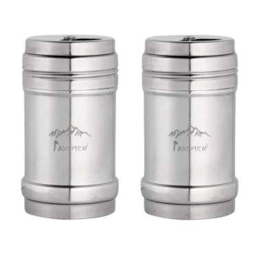 harga 2/4x Salt Pepper Shaker Stainless Steel Condiment Dispenser for Outdoor Camping Blibli.com