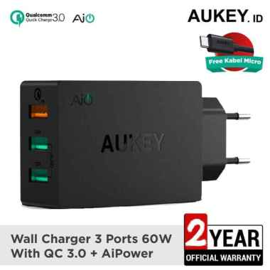 harga AUKEY PA-T14 Charger Quick Charge 3.0 Fast Charging AiQ - 500063 Blibli.com