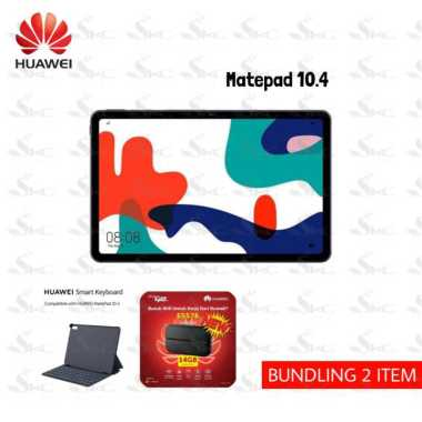 harga Huawei Matepad 10.4 Inch WIFI ONLY[64GB/ 4GB] FREE Smart Keyboard original + MODEM HUAWEI E5576 FREE TELKOMSEL 14GB DARK GREY Blibli.com