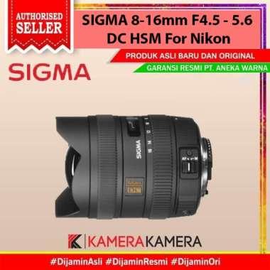 KameraKamera SIGMA 8-16mm F4.5-5.6 DC HSM For NIKON hitam