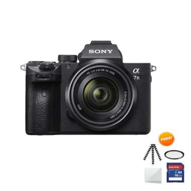 harga SONY Alpha a7 III Kit 28-70mm Kamera Mirrorless Free Screenguard+ Memory SDHC 16GB+ Mini folding/Gorillapod+ Filter UV Black Blibli.com