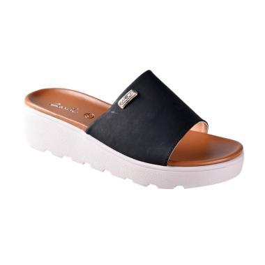 Carvil 01 Sienta Sandals Wedges Wanita - Black