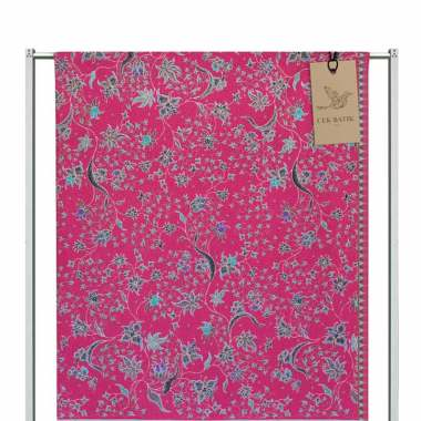 Cek Batik Motif Modern Bunga Manis Kain Batik - Pink