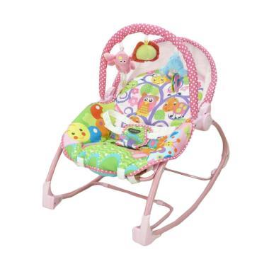 Pliko Rocking Chair Hammock 3 Phases Tempat Tidur Bayi - Pink