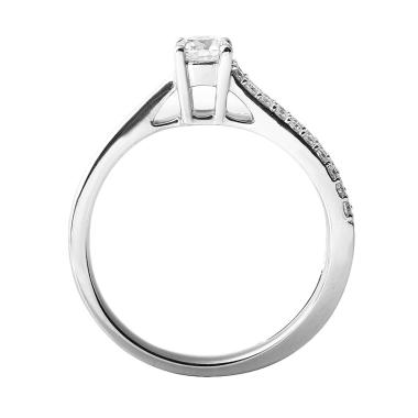 Lino P1609080054 Cincin Berlian Emas Putih VVS [18 K]