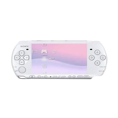 Sony PSP 3000 Game Console - White + MC Pro Duo 8 GB Full Game