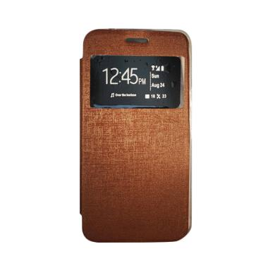 Gea Flip Cover Casing for Asus Zenfone GO ZB551KL 5.5 Inch - Coklat
