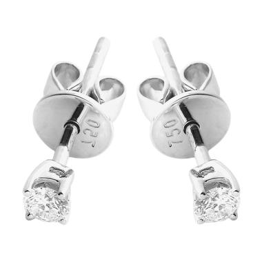LINO P1701090005 Anting Berlian Emas Putih 18K VVS