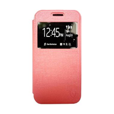 Zagbox Flip Cover Casing for Samsung Galaxy E5 - Pink