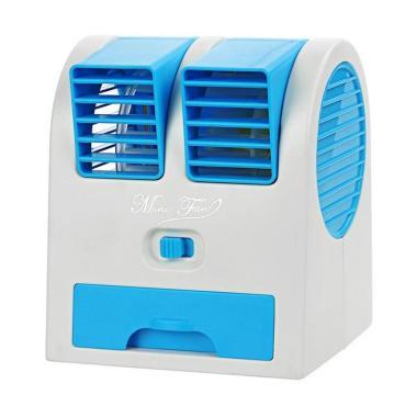 Goshop Mini AC Portable Double Fan - Biru