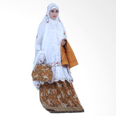 Yumna Behel Batik Cilembang Mukena - Orange