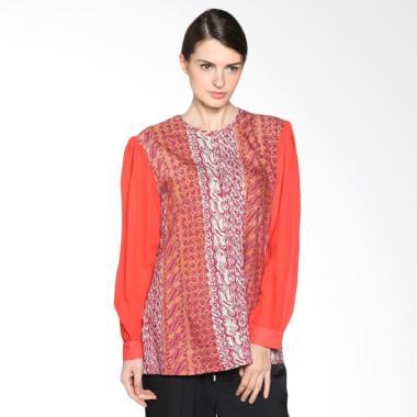 Diana 003 Blouse Batik Wanita Orange