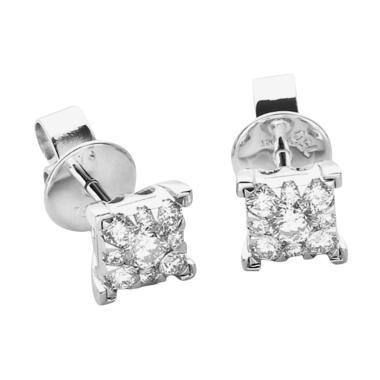 LINO S1703010045 VVS Anting Berlian Emas Putih [18K]