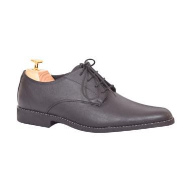 Azcost Derby Sepatu Kulit Pria - Black