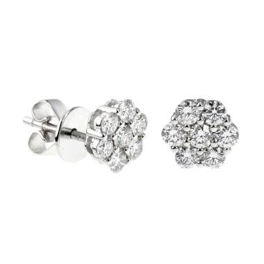 LINO P1702080043 VVS Anting Berlian Emas Putih [18K]