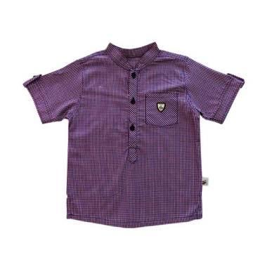 Babylon Sam Kemeja Lengan Pendek Atasan Anak - Purple