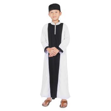 BajuYuli KGS02 Gamis Anak - Hitam Putih