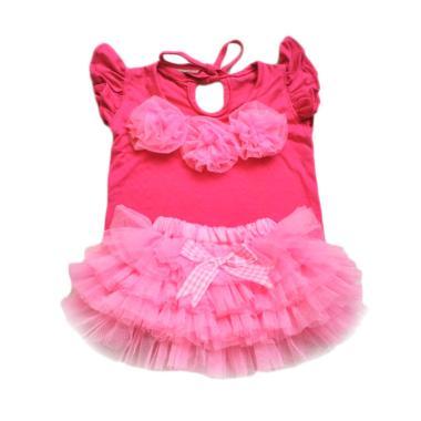 Bnc Baju Rok Tutu Setelan Anak Pink Muda 0 12 Month