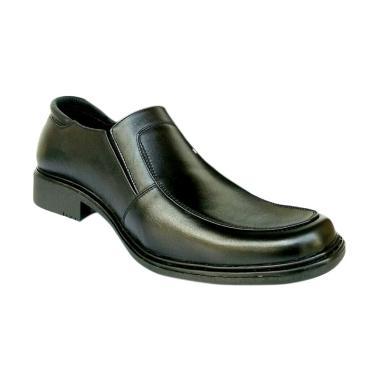 MD Pantofel Sepatu Kulit Pria - Hitam [PDH SJ178]