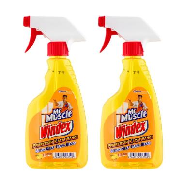 MR. MUSCLE Windex Liquid Lemon Pump [500 mLl-2 pcs] 256500000