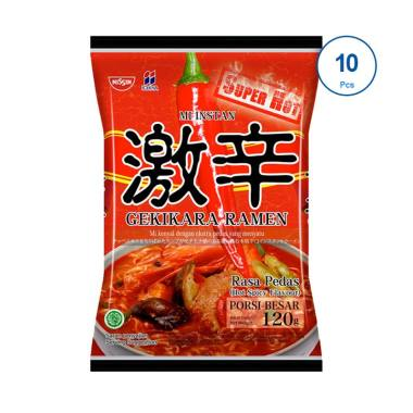 Nissin Gekikara Ramen Pedas Super Hot [120 gram / 10 pcs]